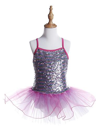 preiswerte Ballettbekleidung-Ballett Kleider Mädchen Training / Leistung Elasthan / Tüll / Pailletten Wellenmuster / Pailetten Ärmellos Kleid