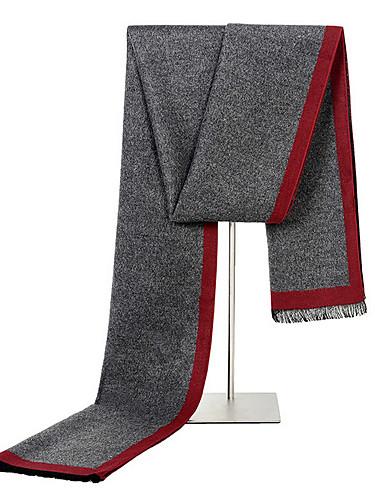 Недорогие Мужские шарфы-Муж. Классический Прямоугольная - С кисточками Контрастных цветов