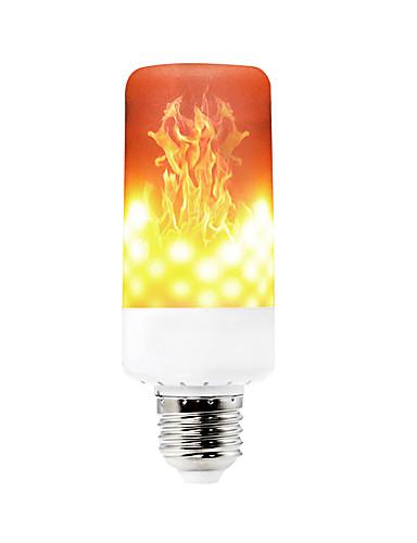 billige Holiday Decoration Light-YWXLIGHT® 1pc 6 W LED-kornpærer 550-600 lm E14 B22 E12 T 99 LED perler SMD 3528 Mulighet for demping Dekorativ Flamme Flimrende Varm hvit 85-265 V