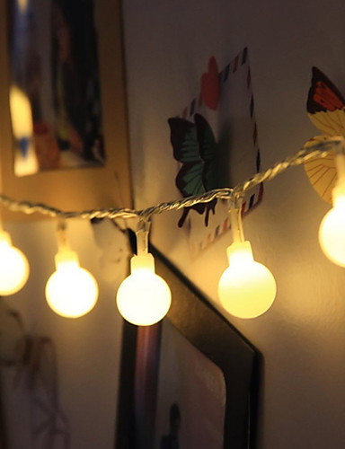 billige Holiday Decoration Light-10 m Lysslynger 100 LED Dip Led Varm hvit / RGB / Hvit Vanntett / Jul / Dekorativ 1pc / IP65