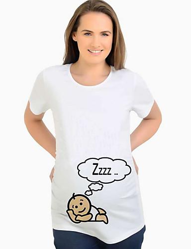 Majčinski Majica s rukavima Žene - Ulični šik Dnevno Crtani film Obala