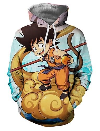 povoljno Anime kostimi-Inspirirana Dragon Ball Son Goku Anime Cosplay nošnje Japanski cosplay Hoodies Other / Noviteti / Moda Hoodie Za Uniseks