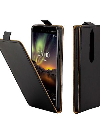 Θήκη Za Nokia Nokia 6 2018 Utor za kartice / Zaokret Korice Jednobojni Tvrdo PU koža