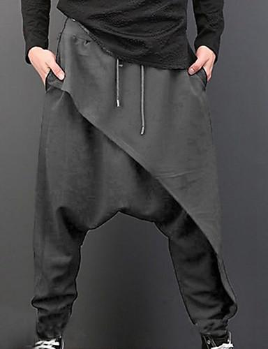 abordables 4/22-Hombre Básico Pantalones de Deporte Pantalones - Un Color Alta cintura Negro