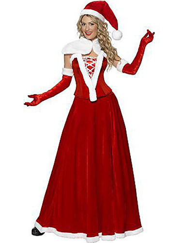 d6e02250f67d4 Déguisement Halloween Femme Noël Costume de Cosplay Père Noël Noël Nouvel  an Rouge Costumes Carnaval