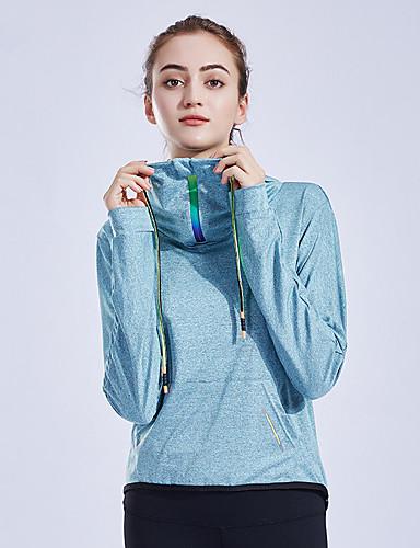 25e42d8a195 Χαμηλού Κόστους Αθλητικά ρούχα-Γυναικεία Με σούρα στο λαιμό Τσέπη Μπλούζα  με Κουκούλα &