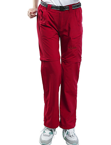 cheap Outdoor Clothing-Women's Hiking Pants Convertible Pants with Belt Outdoor Zipp Off Breathable Fast Dry Quick Dry Sweat-Wicking Spring Summer Pants Trousers Bottoms Camping Hiking Climbing Red Violet Khaki - FLYGAGa