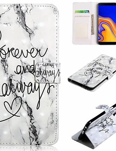 Θήκη Za Samsung Galaxy J7 (2017) / J7 (2016) / J6 (2018) Novčanik / Utor za kartice / sa stalkom Korice Riječ / izreka / Mramor Tvrdo PU koža