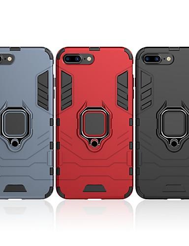 Θήκη Za Apple iPhone 8 Plus Otporno na trešnju / Prsten držač Stražnja maska Jednobojni / Oklop Tvrdo PC
