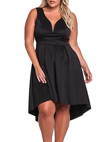 femme grandes tailles basique asym trique gaine robe. Black Bedroom Furniture Sets. Home Design Ideas