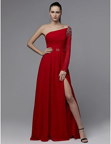 71f0c45f04f2 Χαμηλού Κόστους Κόκκινα φορέματα χορού αποφοίτησης-Γραμμή Α Ένας Ώμος Μακρύ  Σιφόν Επίσημο Βραδινό Φόρεμα · Γραμμή Α Ένας Ώμος Μακρύ Σιφόν Επίσημο  Βραδινό ...