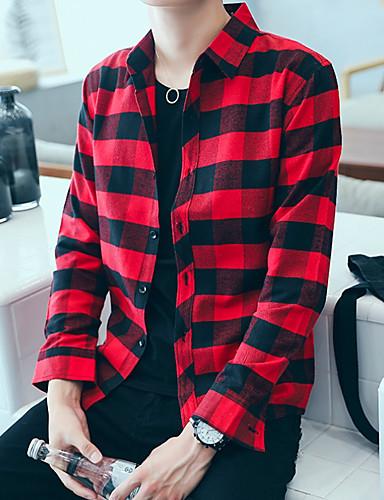 2019 Moda Camicia Per Uomo Monocolore Nero L - Manica Lunga #07087951 Da Processo Scientifico