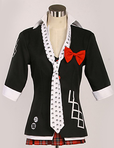 levne Cosplay a kostýmy-Inspirovaný Danganronpa Junko Enoshima Anime Cosplay kostýmy japonština Cosplay šaty Bristké / Současné Kabát / Halenka / Vrchní deska Pro Pánské / Dámské