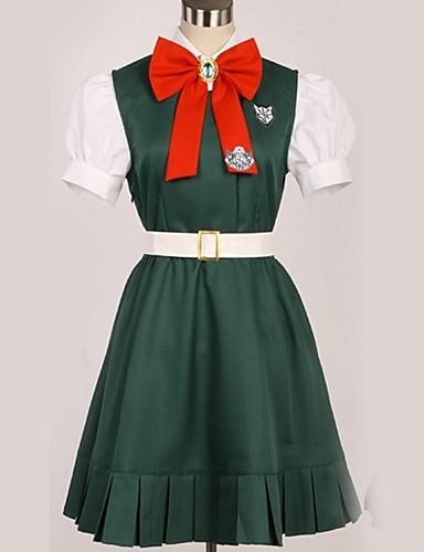 voordelige Cosplay & Kostuums-geinspireerd door Danganronpa Sonia Nevermind / Prinses Anime Cosplaykostuums Cosplay Kostuums Brits / Modern Das / Top / Rok Voor Heren / Dames