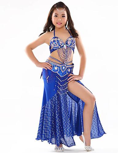007858ed846 Břišní tanec Úbory Dívčí Trénink   Výkon Polyester Sklady Bez rukávů  Spuštený Podprsenka   Doplňky k pasu