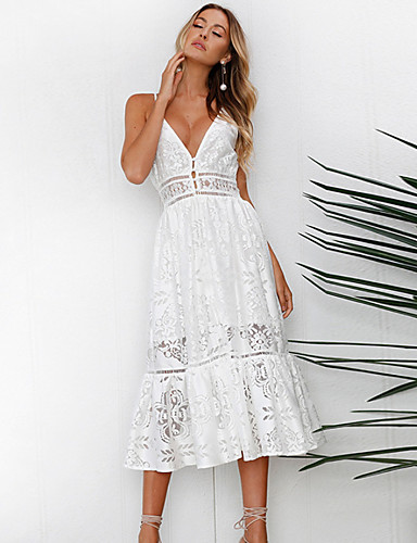 Χαμηλού Κόστους Γυναικεία Φορέματα-Γυναικεία Κομψό Θήκη Φόρεμα - Μονόχρωμο 170283f1fac