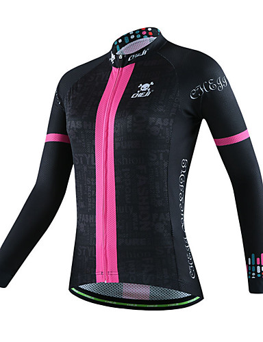 cheap Cycling Clothing-cheji® Women's Long Sleeve Cycling Jersey - Violet Black / White Dark Pink Bike Jersey Top Breathable Sports Other Mountain Bike MTB Road Bike Cycling Clothing Apparel / High Elasticity