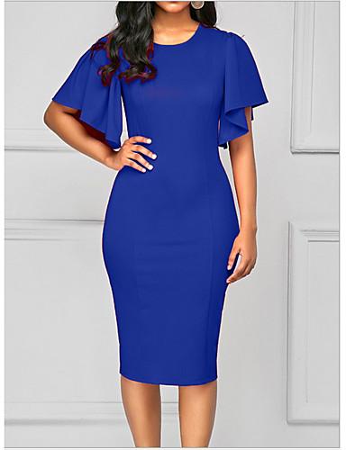 رخيصةأون 5/20-فستان نسائي ثوب ضيق طول الركبة مناسب للحفلات عمل