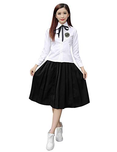 a13bd6c9725 ... Uniform Adulto Escuela secundaria Mujer Chica Vestidos Disfrace de  Cosplay Para Halloween Rendimiento Poliéster Un Color Blusa Falda Navidad  Halloween