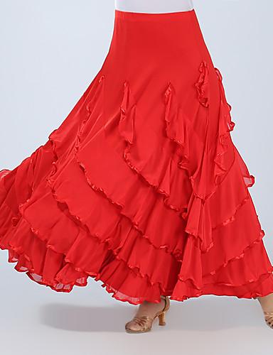cheap Ballroom Dancewear-Ballroom Dance Bottoms Women's Training / Performance Spandex Ruching High Skirts