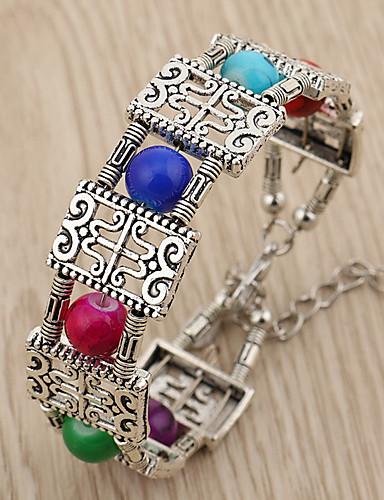 abordables Joyas de Moda-Mujer pulsera - Moda / Colorido Bloques