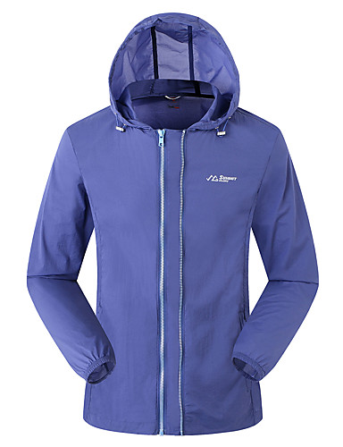 cheap Outdoor Clothing-SUMMITGLORY® Men's Hiking Jacket Outdoor Spring Summer UV Resistant Quick Dry Breathability Stretchy Jacket Elastane N / A Traveling Outdoor Royal Blue / Dark Navy
