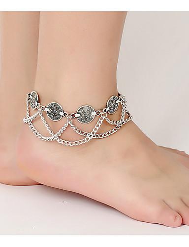 رخيصةأون مجوهرات الموضة-سلسلة الساق نسائي سبيكة, حلو