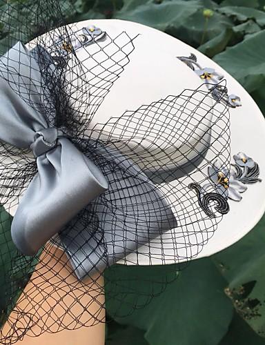 billige Hatte & Imponeringer-Blonde fascinators med Kasket 1 Deler Bryllup / Fest / aften Hodeplagg