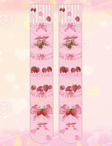 5db55e74b Fantasias Mulheres Adulto Princesa Collants Feminino Meias e Meias-Calças  Meias Altas Apertadas Branco Rosa claro Anime Acessórios Lolita /  Elasticidade ...