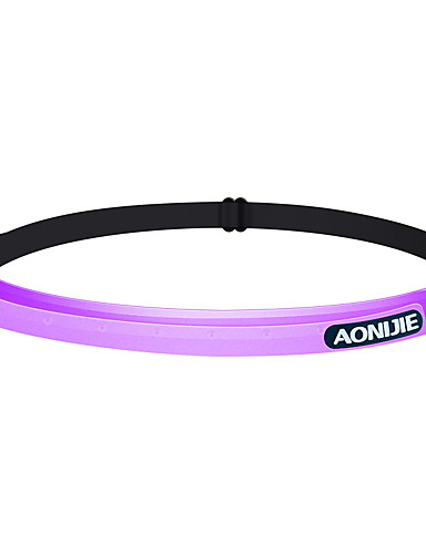 cheap Outdoor Clothing-AONIJIE Hiking Cap Headsweat Anti-Slip Breathability High Elasticity Spring, Fall, Winter, Summer Violet Grey Transparent Unisex Hiking Traveling Walking Solid Colored Letter & Number Adults'