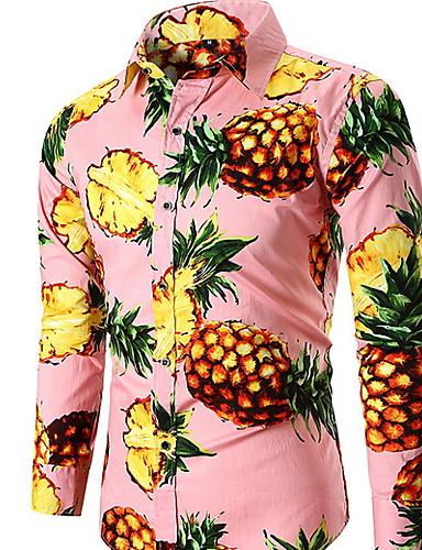 Pánské - Geometrický Košile, Tisk Černá XL
