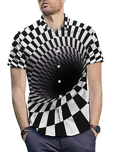 cheap Men's Tops-Men's Shirt - Check Print