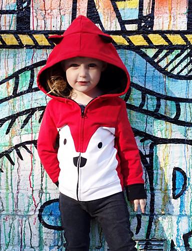 Dítě Dívčí Aktivní / Základní Tisk Tisk Standardní Bavlna / Spandex Bundičky a kabáty Světlá růžová