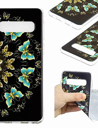 Etui Käyttötarkoitus Samsung Galaxy S9 / S9 Plus / S8 Plus Läpinäkyvä / Kuvio Takakuori Perhonen Pehmeä TPU
