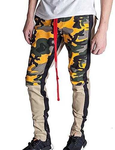 男性用 ベーシック チノパン / スウェットパンツ パンツ - 多色 パープル