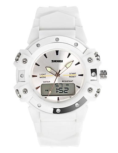 8d1bbb77a SKMEI Men s Digital Watch Digital Rubber Black   White   Blue 50 m Water  Resistant   Waterproof Calendar   date   day Stopwatch Analog - Digital  Casual ...