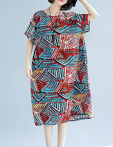 b4f8417b3d4e Women s Swing Dress - Striped Print Blue Red L XL 7153126 2019 –  17.99