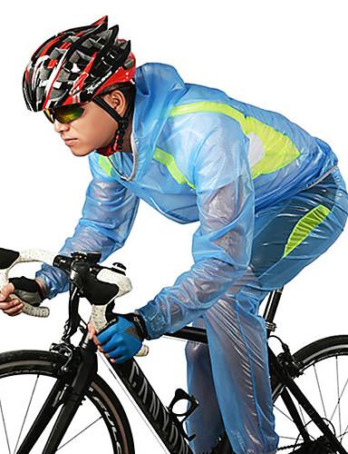 904d07b9b ROCKBROS Men s Women s Unisex Cycling Jacket Bike Jacket Tee   T-shirt  Sweatshirt Waterproof Windproof Breathable Sports Polyester Winter White    Green ...