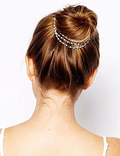 رخيصةأون إكسسوارات-لؤلؤ تقليدي / سبيكة غطاء للرأس مع كريستال 1 قطعة مناسبة خاصة / مناسب للبس اليومي خوذة