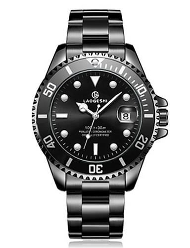 6809e2987 رجالي ووتش الميكانيكية داخل الساعة ميكانيكي يدوي أسود / فضة 30 m مقاوم للماء  رزنامه قضية