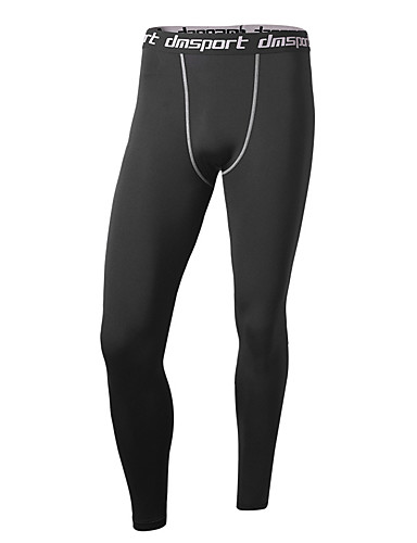 cheap Compression Clothing-Men's Compression Pants Compression Base layer Tights Bottoms Plus Size Lightweight Breathable Quick Dry Soft Sweat-wicking Black Black / Green Winter Road Bike Mountain Bike MTB Basketball Stretchy