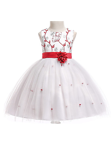 ffefb43032c9 Princess Knee Length Flower Girl Dress - Polyester / Cotton Blend Sleeveless  Jewel Neck with Pattern / Print by 7220436 2019 – $34.99