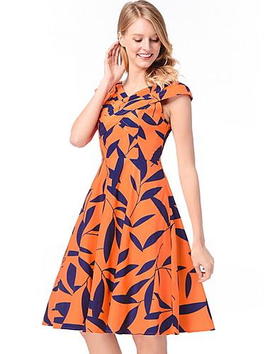 Χαμηλού Κόστους Γυναικεία Φορέματα-Γυναικεία Βασικό Θήκη Swing Φόρεμα -  Γεωμετρικό 9dcfa75f264