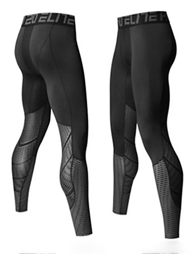 cheap Cycling Clothing-Men's Compression Pants Compression Base layer Tights Bottoms Lightweight Breathable Quick Dry Soft Sweat-wicking Silver Blue Winter Road Bike Mountain Bike MTB Basketball High Elasticity