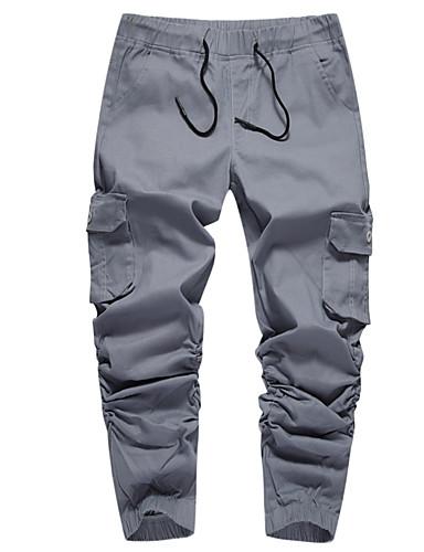 Amichevole Per Uomo Chino Pantaloni - Tinta Unita Vino #07202993 Buona Conservazione Del Calore
