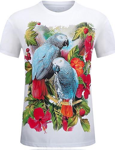 voordelige Heren T-shirts & tanktops-Heren Grote maten - T-shirt dier Ronde hals blauw