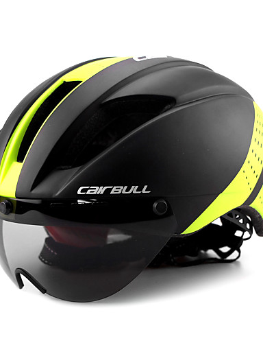 cheap Cycling-CAIRBULL Adults Bike Helmet with Goggle Aero Helmet 11 Vents CE EN 1077 Impact Resistant, Lightweight, Ventilation EPS, PC Sports Mountain Bike / MTB / Road Cycling / Riding - Yellow / Black / Black