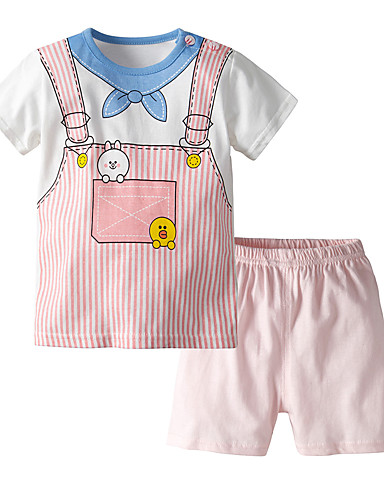 Affidabile Bambino Da Ragazza Casual - Essenziale Con Stampe Senza Maniche Standard Standard Cotone Completo Rosa #07210958