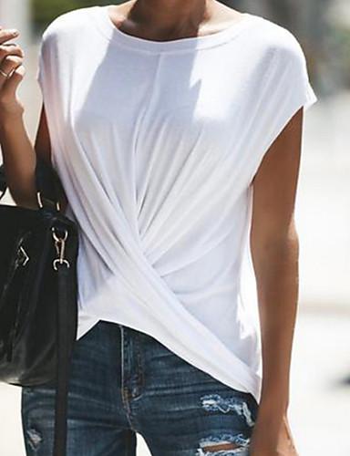 7295571dd3 abordables Camisas y Camisetas para Mujer-Mujer Tallas Grandes Camiseta Un  Color Rosa XXXL