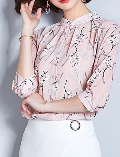 Blusa Per donna Fantasia floreale Rosa XL / Taglia piccola